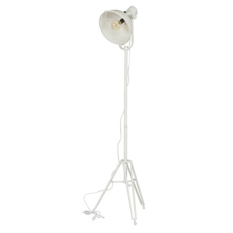 BePureHome Gulv lampe forlygte hvid metal 167x54x45cm