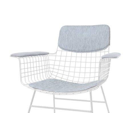 HK-living Kissen-Set für Stuhl mit Armlehne Comfort Kit grau