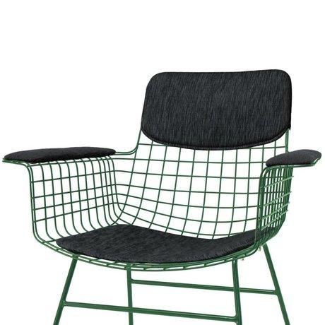 HK-living Cushion set for chair with armrests Comfort Kit black