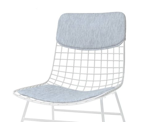 HK-living Ensemble d'oreillers pour chaise Comfort Kit gris