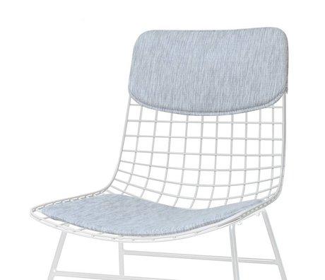HK-living Pillow Set di sedia Comfort Kit grigio