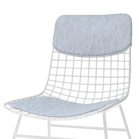 HK-living Pillow set for chair Comfort Kit gray