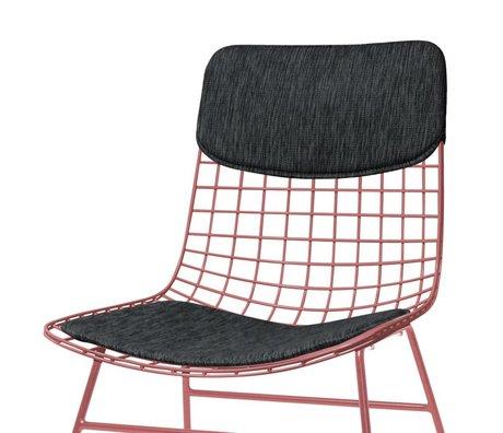 HK-living Almohada Conjunto de silla Comfort Kit negro
