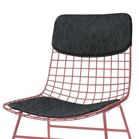 HK-living Pillow Set di sedia Comfort Kit nero