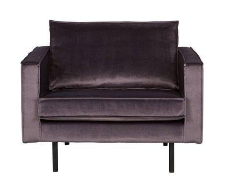 BePureHome Rodeo terciopelo gris 105x86x85cm sillón de terciopelo