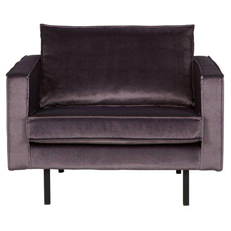 BePureHome Rodeo gray velvet armchair velvet 105x86x85cm