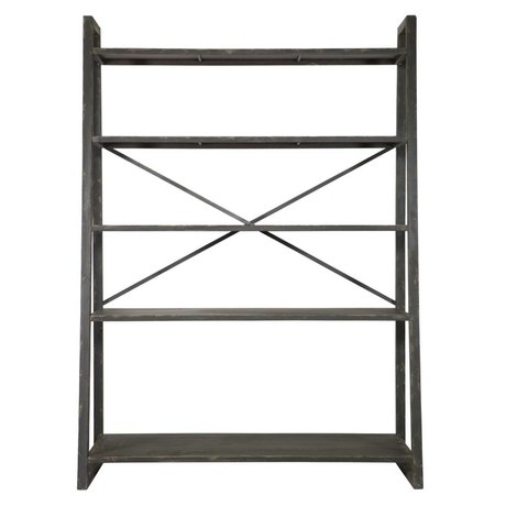 BePureHome Splurge black metal rack di stoccaggio 195x140x54.5cm