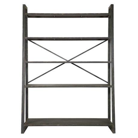 BePureHome Splurge métal noir rack de stockage 195x140x54.5cm