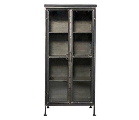 BePureHome Puristiske black metal kabinet kabinet 59x41x124cm