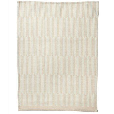 Ferm Living Arch pink tea towel organic cotton 50x70cm