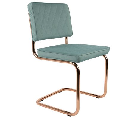 Zuiver Dining Chair Diamond mint green polyester 48x48x85cm