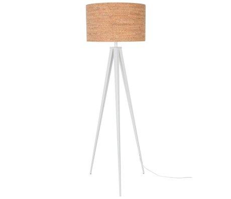 Zuiver Bodenlampe Tripod, braun weiß, Kork, Metall, 157 x 50 cm