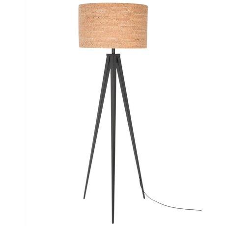 Zuiver Lampe sur pied trépied liège brun noir 157x50cm métallique