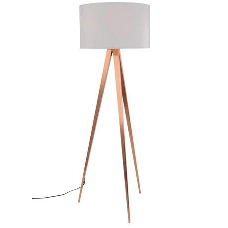 Zuiver Tripod floor lamp white textile metal copper 154,5x50cm