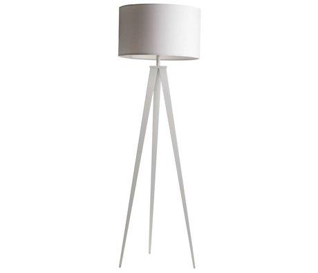 Zuiver Bodenlampe Tripod, weiß, Textil, Metall, 157 x 50 cm