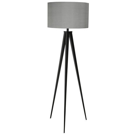 Zuiver Tripod floor lamp black metal gray fabric 157x50cm