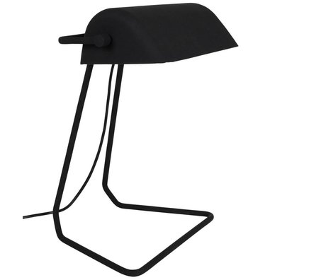 Zuiver Table lamp Broker black iron 30x20,5x35cm