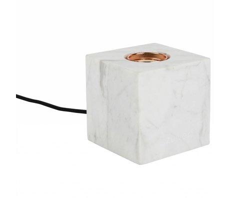 Zuiver Lampe de table Bolch marbre blanc 8,5x8,5x8,5cm