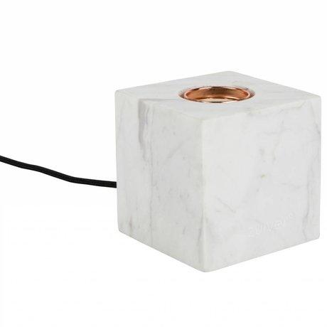 Zuiver Tischlampe Bolch weißem Marmor 8,5x8,5x8,5cm