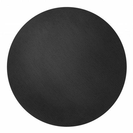 Ferm Living Sheet metal basket ø50cm black oak veneer