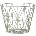 Ferm Living Basket dusty green iron 3 sizes 40x35cm, 50x40cm, 60x45cm wire basket