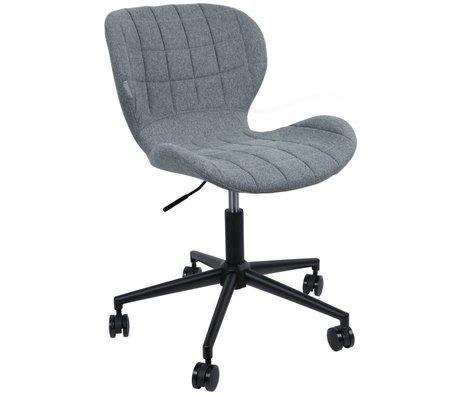 Zuiver Stuhl OMG Polyester grau schwarz 52x65x76 / 88cm