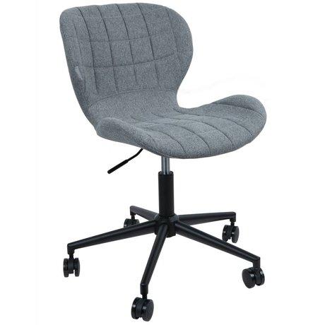 Zuiver Président OMG polyester gris 52x65x76 noir / 88cm