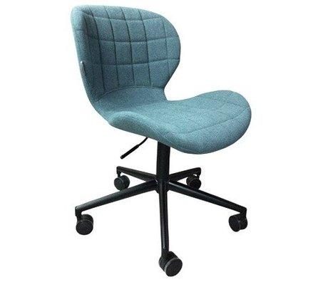 Zuiver OMG Polyester blau Stuhl schwarz 52x65x76 / 88cm