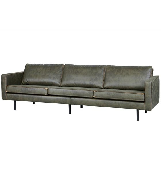 3 Seater Sofa Rodeo Army Green Leather