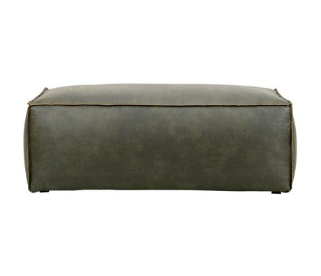 BePureHome Pouf Rodeo esercito 43x120x60cm pelle verde