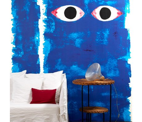 NLXL-Paola Navone Yeux bleus Fond d'écran de 900x49cm bleu