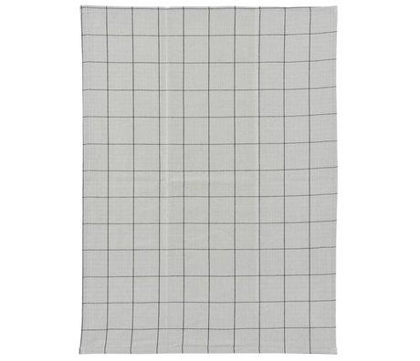 Housedoctor Geschirrtuch grau schwarz kariert Baumwolle 50x70cm