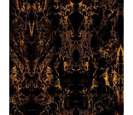 NLXL-Piet Hein Eek Fond d'écran Marble papier Black Metallic 71 900x48,7cm noir