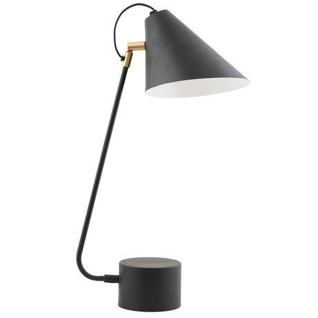 Housedoctor Lampe de table fer noir Club Ø18-20x54cm