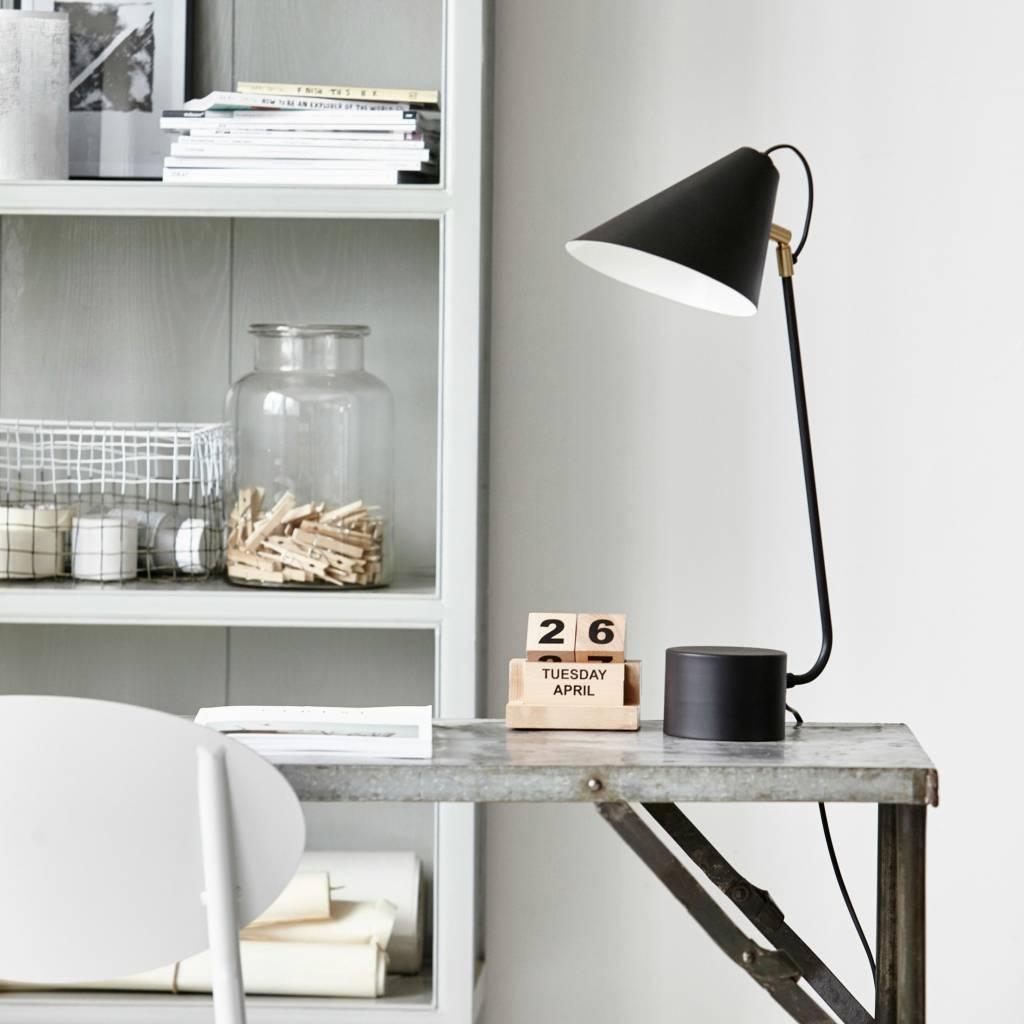 Ungdommelig Housedoctor Lampe de table fer noir Club Ø18-20x54cm - lefliving.com XU-93