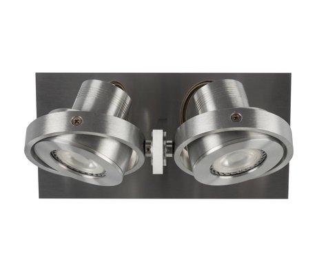 Zuiver Wandstrahler LUCI-2 LED Aluminium grau 23 x 11,5 x 12,8 cm