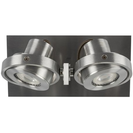 Zuiver Wandlmap LUCI-2 aluminium LED 23x11,5x12,8cm gris