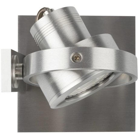 Zuiver Wall light LUCI-1 LED aluminum gray 11,5x11,5x12,8cm