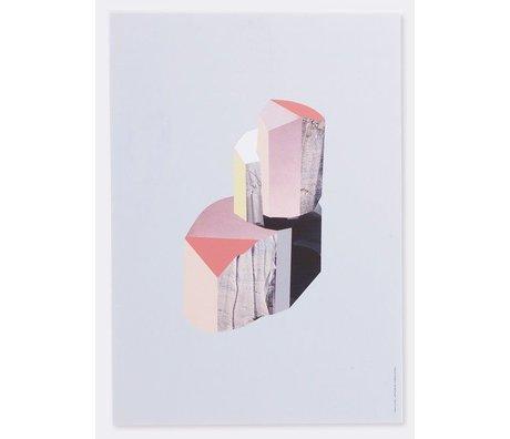 Ferm Living Vægpaneler 'Quartz -1' birk krydsfiner, hvid / flerfarvet, 29,7 x42 cm