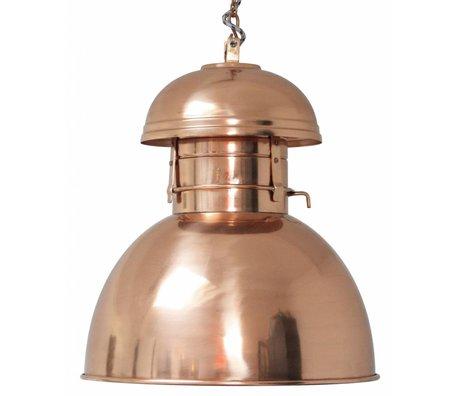 """HK-living Industrielle hængelampe """"Warehouse"""" L, kobber, metal, ø42cm"""
