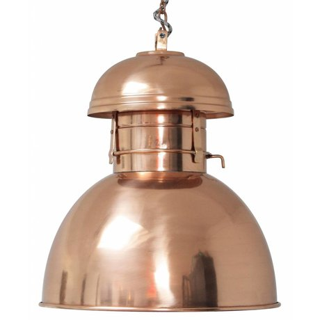 "HK-living Industrial lámpara colgante ""Almacén"" L, cobre, metal, Ø42cm"