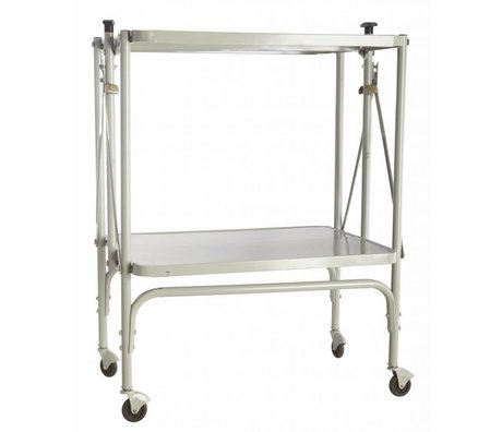 Housedoctor Trolley 'fix' di metallo, pieghevole, grigio chiaro, 40x53.5x75cm