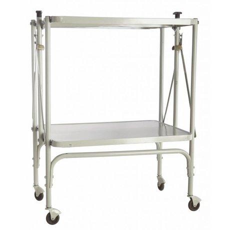 """Housedoctor Trolley """"arreglo"""" de metal, plegable, de color gris claro, 40x53.5x75cm"""