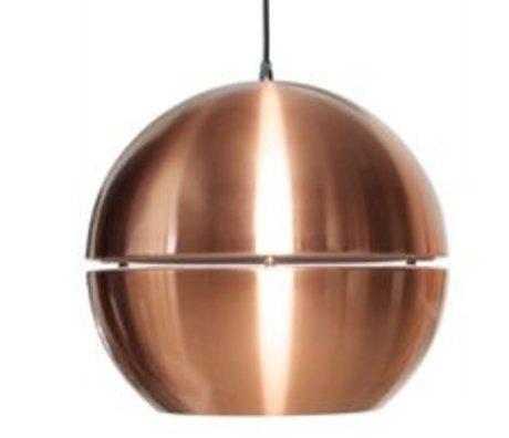 Zuiver Lampe à suspension 'Retro 70' en métal, cuivre, Ø50x47cm