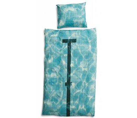 Snurk Linen 'pulje' af bomuld, blå, fås i 3 størrelser