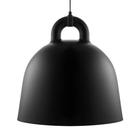 Normann Copenhagen Campana sospensione in alluminio nero L Ø55x57cm