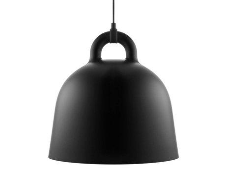 Normann Copenhagen Bell lampe suspendue aluminium noir M Ø42x44cm