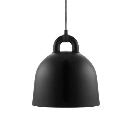 Normann Copenhagen Bell lampe suspendue aluminium noir S Ø35x37cm