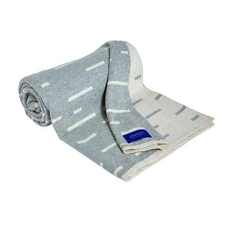 OYOY lumière Smilla plaid gris coton 120x150cm