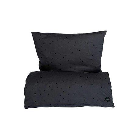 OYOY Dot bed junior 100x140cm black cotton